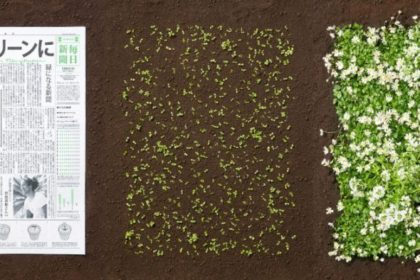 Amazing Newspaper That Becomes a Plant is Coming From Japan